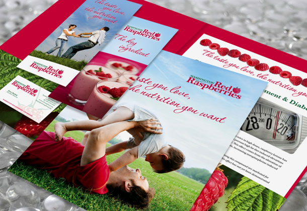 Wa Red Raspberry Commission Marketing Collateral